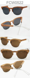 Half Frame Bamboo Wooden Sunglasses pictures & photos