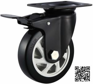 5′′ PVC Total Brake Caster for Trolley pictures & photos