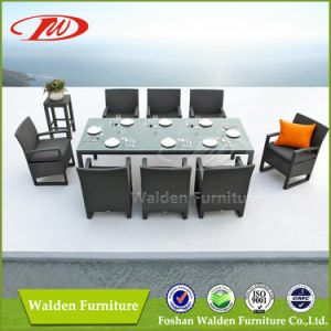 Popular indoor/outdoor rattan dining table set pictures & photos
