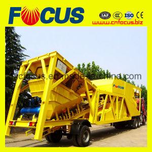 Popular Trailer Mobile Concrete Batching Plant Yhzs75 pictures & photos