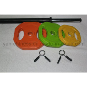 Crossfit Equipment Colorful Adjustable Barbell Use for Women pictures & photos