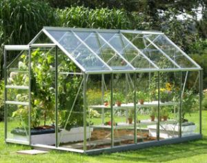 High Quality New Design W/PC Board Garden Aluminium Greenhouse