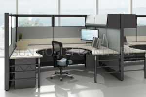 modern modular glass and fabric screen partition office cubicles szws514