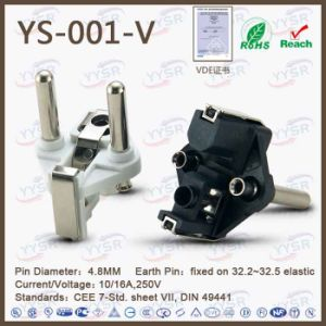 VDE French Hollow Power Cord Plug pictures & photos