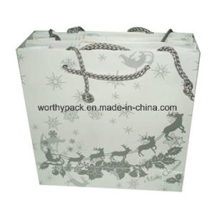 Printed Art Paper Card Gift Bag for Cosmetic and Jewelry