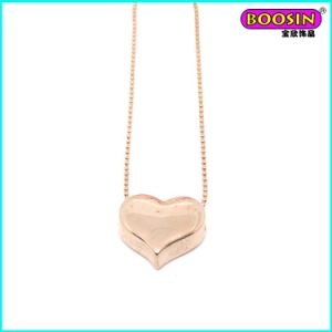 Chinese Manufacturer Wholesale Rose Gold Chain Heart Pendant Necklace pictures & photos