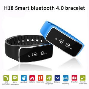 Bluetooth 4.0 Smart Bracelet with Pedometer Function (H18) pictures & photos