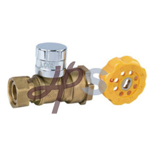 Angle Type Brass Magnetic Lockable Ball Valve for Water Meter pictures & photos