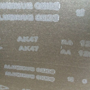 Resharping Aluminum Oxide Grinding Tool Sand Belt Ak47 120# pictures & photos