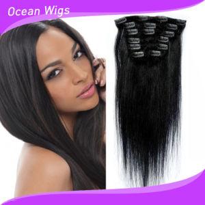 100% Human Virgin Hair Extension, Brazilian Virgin Hair, Clip in Hair Extention pictures & photos