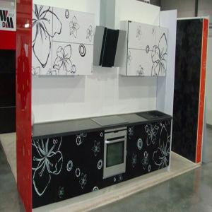 Flower UV Kitchen Cabinet (C-893) pictures & photos