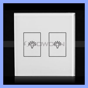 Fire-Retardant Smart Light Socket Switch Single Firewire Tempered Glass Touch Switch pictures & photos
