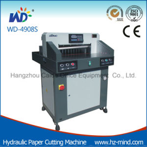 Professional Manufacturer Paper Cutter (WD-4908S) Hydraulic Paper Cutting Machine pictures & photos