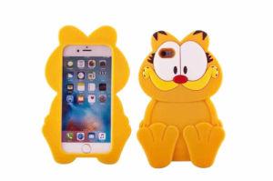 Yellow Big Eye Garfield Silicone Phone Case for Huawei P8 Lite LG K10 K5 K7 (XSDW-005) pictures & photos