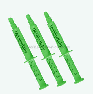 Prefillable Syringe 5ml with Green Barrel and Plunger pictures & photos