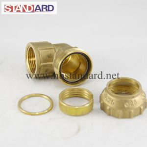Female Brass PE Elbow Fitting pictures & photos
