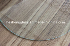 4mm Round Plain Tempered Glass for Table Surface pictures & photos