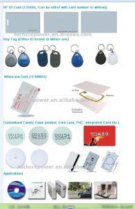 125kHz Em4100 ABS Key Card, Key FOB pictures & photos