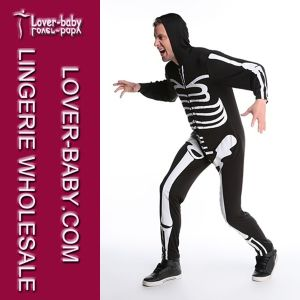 Men′s Skeleton Bodysuit Halloween Costume (L15344) pictures & photos