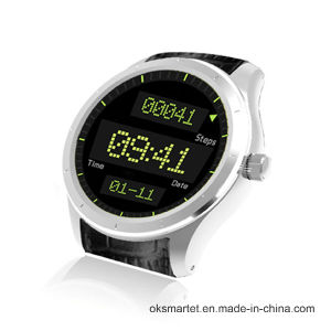 Newest Private Mode Okq3 Round Shape 3G WiFi GPS Smart Watch pictures & photos