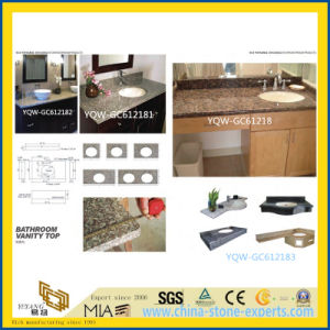 Natural Polished Brown/Black Kitchen Granite Counter Top for Home/Bathroom/Hotel pictures & photos