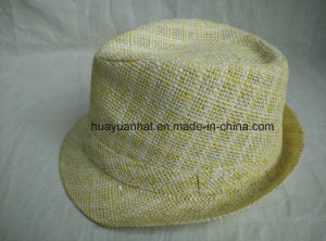 90%Paper 10% Polyester Paper cloth Fabric Fedora Hats pictures & photos