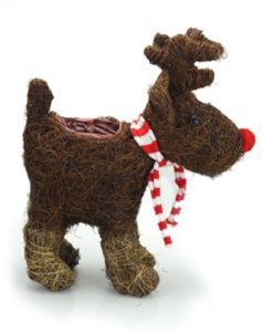 Salim Rattan Reindeer Basket Animal Flower Planter pictures & photos