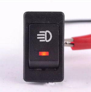 Red Car 4 Pins DC12V LED Fog Toggle on /off Switch pictures & photos