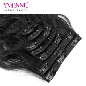 Ombre Peruvian Human Hair Clip in Hair Extensions pictures & photos