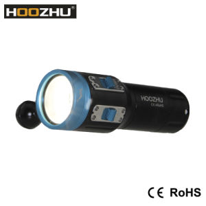 Hot Selling CREE Xml 2 LED Max 2600 Lm Waterproof 100m Diving Flashlight with Five Color Light for Video pictures & photos