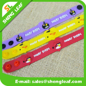 Cheap Customized OEM Logo PVC Rubber Bracelets pictures & photos