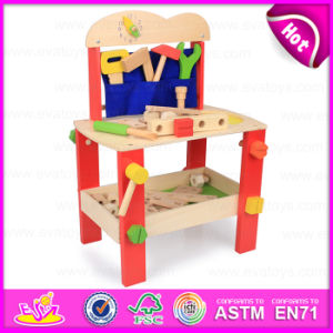 2015 Wooden Kids Tool Table Set Toys, DIY Tool Play Toys Wooden Toy Tool Set, Big Funny Wooden Tool Platform Tables Toys W03D061 pictures & photos