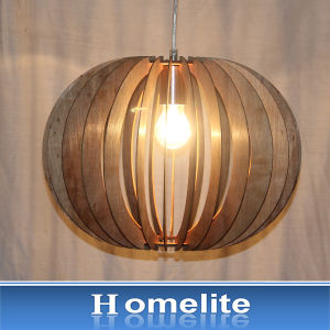 Chinese Gardan Style Wood Natural Pendan Light for Indoor