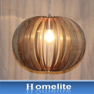 Chinese Gardan Style Wood Natural Pendan Light for Indoor