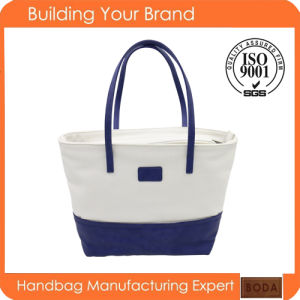 New Design Woman Wholesale Canvas Tote Handbag (BDX-161052) pictures & photos