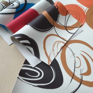 Supply Colorful PVC Artificial Car Leather pictures & photos