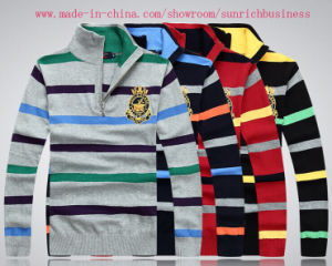 Men′s Stripe Cardigan Sweater (MY007) pictures & photos