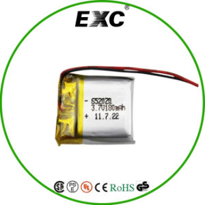 652020 3.7V 180mAh Li-ion Polymet Battery pictures & photos