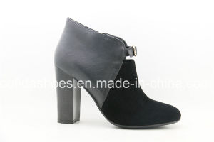 New Dirty Feeling Comfort Heels Women Leather Ankle Boots pictures & photos