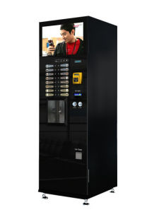 Touch Screen Advertising Player Coffee Vending Machine with Grinder (F308) pictures & photos