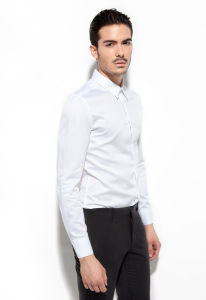 100% Cotton High Count Yarn White Dress Shirt pictures & photos
