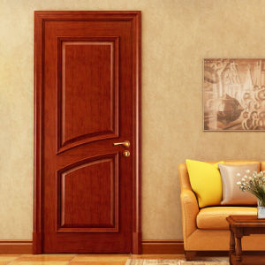 Oppein High Quality Brown Classic Cherrywood Interior Door (MSGD35) pictures & photos