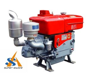 Water Cooled Single Cylinder 4 Stroke 15HP Diesel Engine pictures & photos