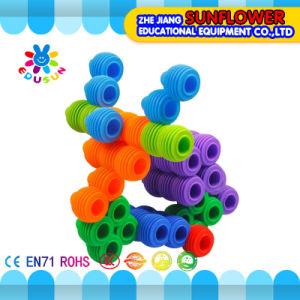 Children Plastic Desktop Toy Round Inserting Building Blocks