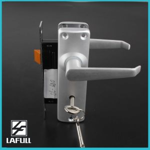 680 Aluminum Handle and Plate with Lock Body Door Lock