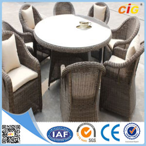 New Design Outdoor Round Wicker Rattan 8 Seat Dining Table Setting pictures & photos