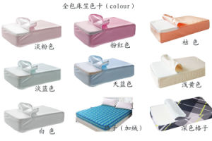 Waterproof Mattress Cover with Zipper Quilted Mattress Topper with Skirt pictures & photos