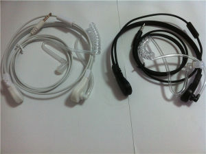 OEM Service 3.5mm White&Black Wired Earhook Earphone Factory pictures & photos