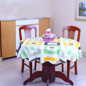 Colored Designed Plastic PVC Table Cloth pictures & photos