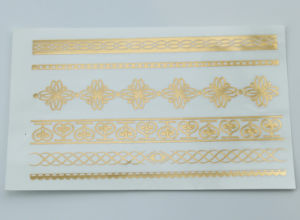 Long Lasting Gold Foil Tattoo, Fashion Sticker Tattoo pictures & photos